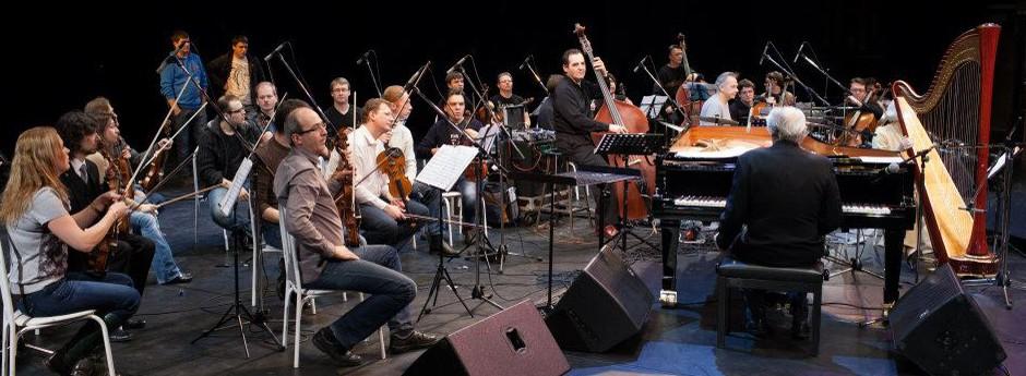 Michel Legrand, F Laizeau, Catherine Michel et l'orchestre Moscow Virtuosi à Moscou