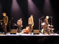 1er concert du mother Land Quartet, en sortant de scène